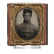 African American Union Soldier Shower Curtain