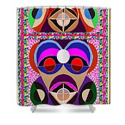 African Art Style Mascot Wizard Magic Comedy Comic Humor  Navinjoshi Rights Managed Images Clawn    Shower Curtain by Navin Joshi
