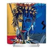 African Beauty 1 Shower Curtain