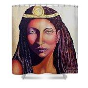 An African Face Shower Curtain