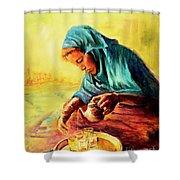 African Chai Tea Lady. Shower Curtain