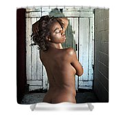 Chynna African American Nude Girl In Sexy Sensual Photograph And In Color 4788.02 Shower Curtain
