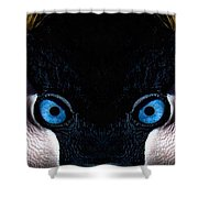 African Crowned Crane X2 Shower Curtain