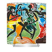 African Dancers No. 3 Shower Curtain