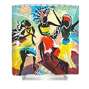 African Dancers No. 4 Shower Curtain