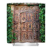 African Door Parker Palm Springs Shower Curtain