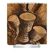 African Drums Shower Curtain
