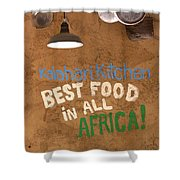 African Food Shower Curtain
