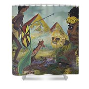 African Gold Shower Curtain