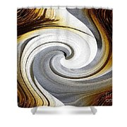 African Moon Twirls Shower Curtain