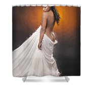 African Nude And White Cloth 1036.02 Shower Curtain