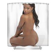 African Nude Kneeling 1052.02 Shower Curtain