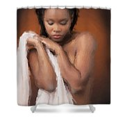 African Nude Looks Shy 1037.02 Shower Curtain