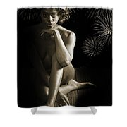 Chynna African American Nude Girl In Sexy Sensual Photograph And In Black And White Sepia 4791.01 Shower Curtain