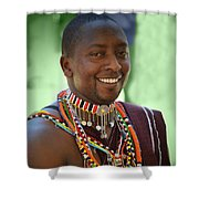 African Smile Shower Curtain