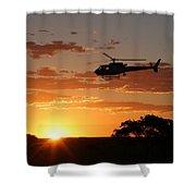African Sunset II Shower Curtain