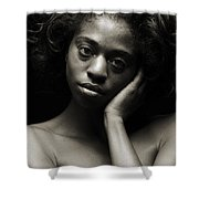 Chynna African American Nude Girl In Sexy Sensual Photograph And In Black And White Sepia 4784.01 Shower Curtain