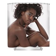 Chynna African American Nude Girl In Sexy Sensual Photograph And In Color 4779.02 Shower Curtain