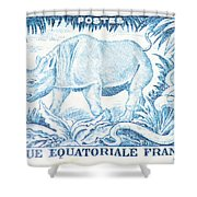 Afrique Rhino Shower Curtain