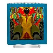 Afro Art Shower Curtain