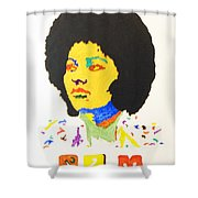 Afro Pam Grier Shower Curtain