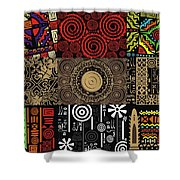 Afroecletic II Shower Curtain