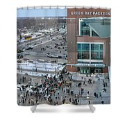 After A Winter Packers Game Shower Curtain