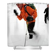 After An Afternoon Of Ice Climbing, Two Shower Curtain