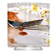 After Breakfast  Shower Curtain