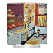 After Hours Party Shower Curtain