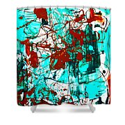 After Pollock Shower Curtain