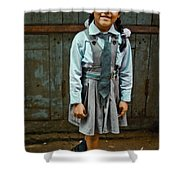After School Pose Shower Curtain