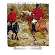 After The Hunt Shower Curtain by Diane Kraudelt
