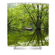 After The Rain On The Valley River Shower Curtain
