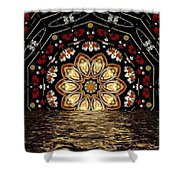 After The Rain Sunset Shower Curtain