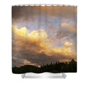 After The Storm -  Lake Arrowhead Shower Curtain