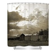 After The Storm On The Farm Shower Curtain