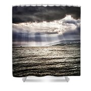 After The Storm Sea Of Galilee Israel Shower Curtain