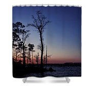 After The Sun Goes Down Shower Curtain by Kim Hojnacki