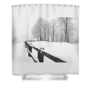 After The Winter Storm Shower Curtain