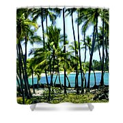 Afternoon At Kakaha Kai Shower Curtain