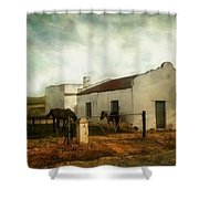 Afternoon At Lone Tree Ranch Shower Curtain