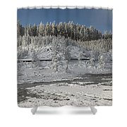 Afternoon At Mud Volcano Area - Yellowstone National Park Shower Curtain