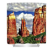 Afternoon Cathedral Rocks Saddle View Red Rock State Park Sedona Arizona Shower Curtain
