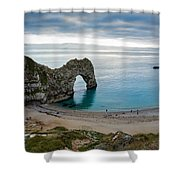 Afternoon Cloud Breaking Up At Durdle Door Shower Curtain