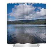 Afternoon Clouds Over Big Lagoon Shower Curtain