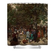 Afternoon In The Tuileries Gardens Shower Curtain