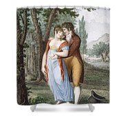 Afternoon Near St. Gervais, Engraved Shower Curtain