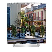 Afternoon On The Balcony Shower Curtain