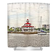 Afternoon On The Water - Hdr Shower Curtain